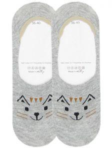 Носочки следки с изображением игривого котика