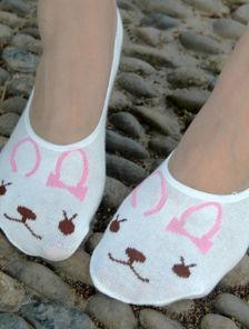 Носочки-следки с милыми зайчиками