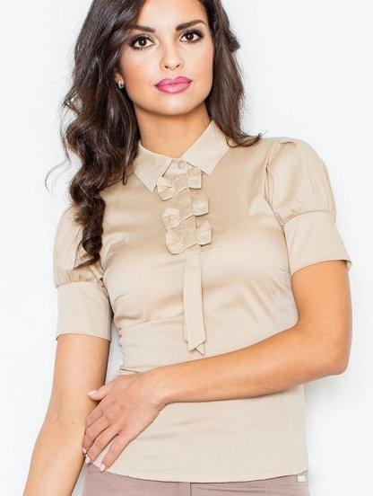 Хлопковая женская деловая блузка, фото 1