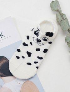 Носочки с изображением щенка черно-белые