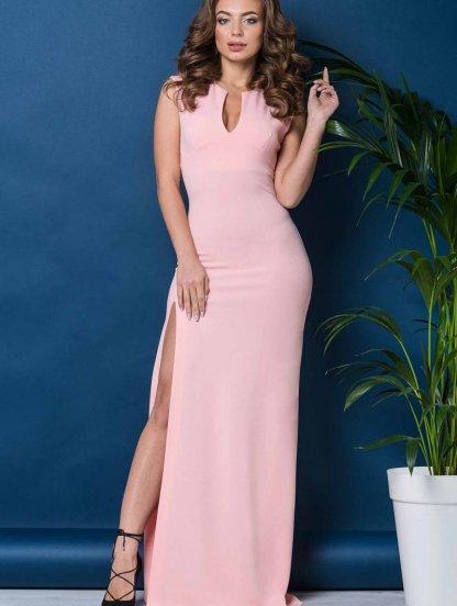 Длинное розовое платье в пол, фото 1