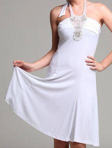 Красивое открытое платье