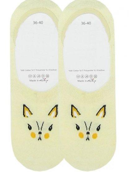Носочки следки с котиком на желтом фоне