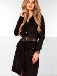 Вельветовое платье пиджак миди длины