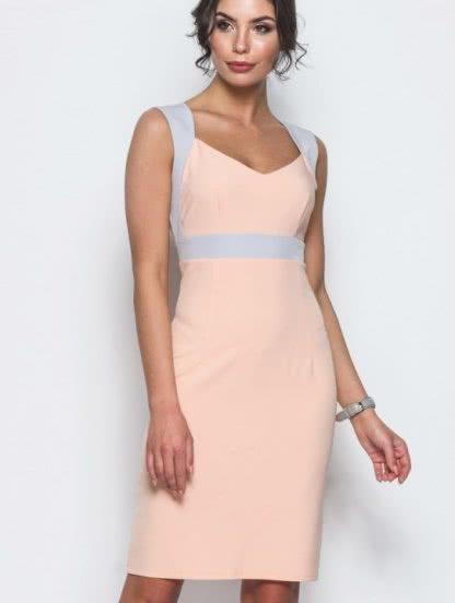 Облегающее платье без рукава на широких брителях длины-миди, фото 1