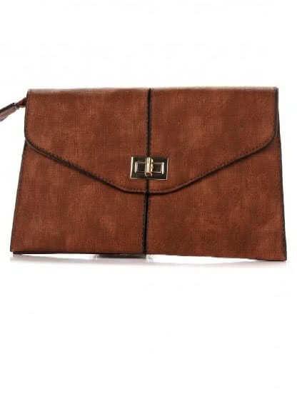 Элегантный женственный клатч коричневого цвета