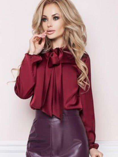 Шелковая блуза с длинным рукавом, фото 1