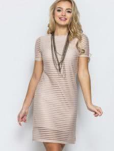 Стильное и женственное платье с оригинальной комбинацией двух тканей