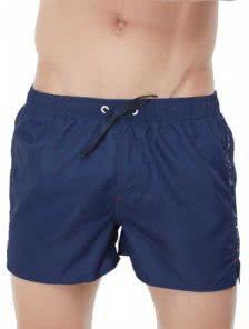 Мужские пляжные шорты Marc Andreсинего цвета на шнурочке