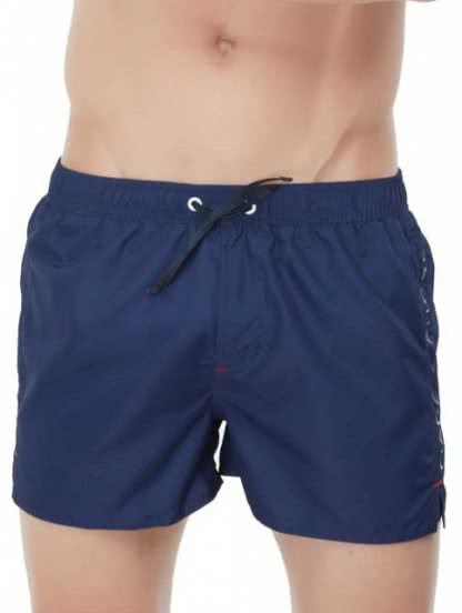 Мужские пляжные шорты Marc Andreсинего цвета на шнурочке, фото 1