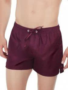 Мужские короткие пляжные шорты цвета марсала