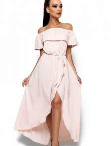 Изысканное платье цвета пудры