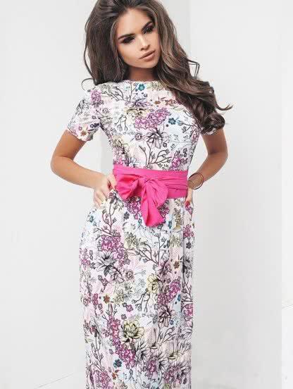 Длинное платье в пол из натуральной ткани, фото 1