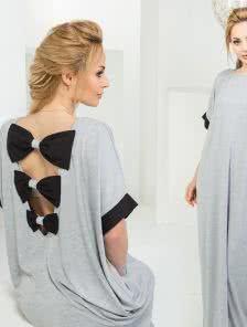 Длинное летнее платье с бантиком