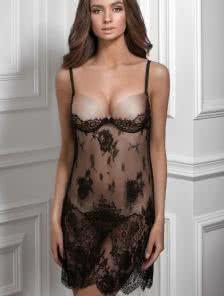 Ночная рубашка с плотными формироваными чашками для поднятия груди