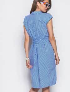 Лёгкое повседневное платье с открытой планкой длины миди