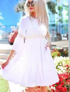 Летнее льняное платье с рукавчиком