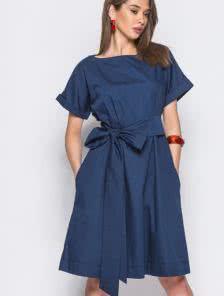 Практичное повседневное платье из хлопковой ткани