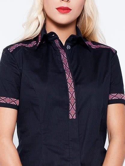 Черная сорочка с вышивкой, фото 1