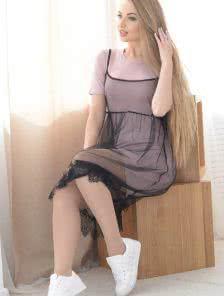 Платье-двойка: футболка и накидка
