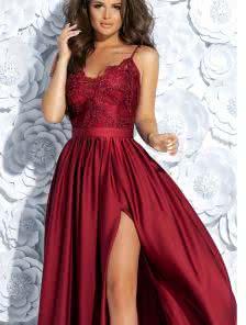 Вечернее платье в  винном цвете