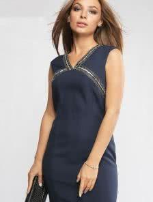 Женский деловой костюм (короткий пиджак и платье)