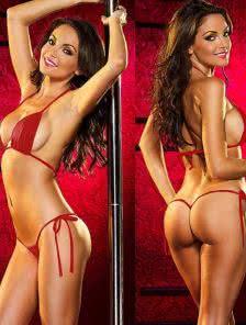 Сексуальный купальник мини-бикини на завязках