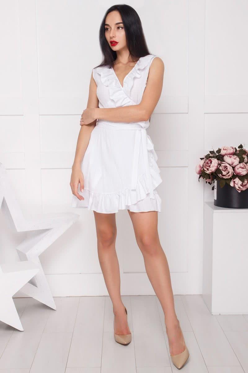 df4958a8e0e Симпатичное платьице на запах с пышным воланом. Купить в Киеве •  Интернет-магазин Onlady