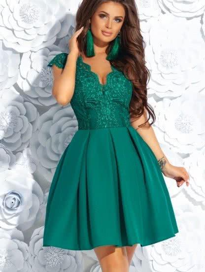 Короткое пышное коктейльное платье на выпускной бал, фото 1