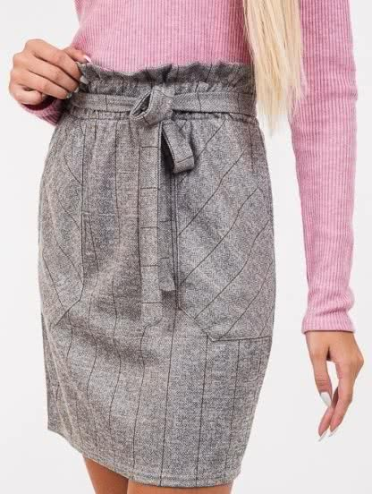 Короткая свободная юбка с карманами, фото 1