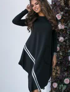 a19f755c6a3 Черное платье-трапеция. Купить в Киеве • Интернет-магазин Onlady