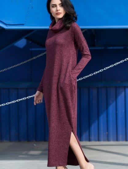 Теплое повседневное платье, фото 1
