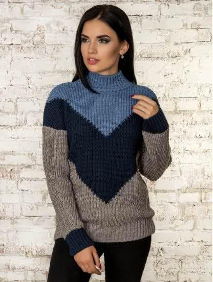 Мягкий зимний шерстяной свитер с мохером, фото 1