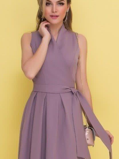Платье на запах длины-миди ,без рукавов, фото 1