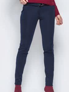 Темно-синие брюки на флисе