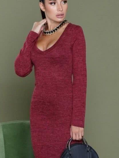 Теплое платье-футляр под курточку, фото 1