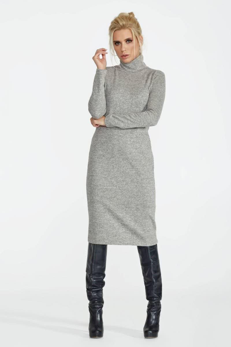 2bbdd854200 Универсальное ангоровое платье-футляр серого цвета. Купить в Киеве •  Интернет-магазин Onlady