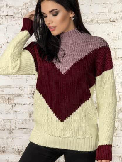 Зимний шерстяной свитер с мохером, фото 1