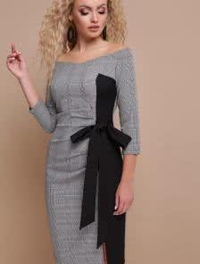 Короткое офисное платье на работу
