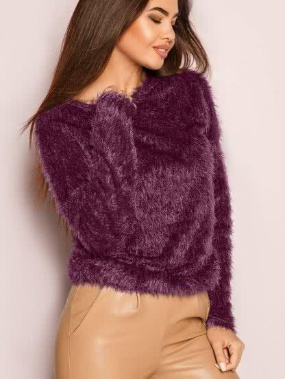 Модный свитер с длинным ворсом - тренд новой колекции, фото 1