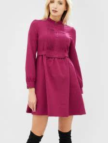 Платье А-силуэа цвета фуксия