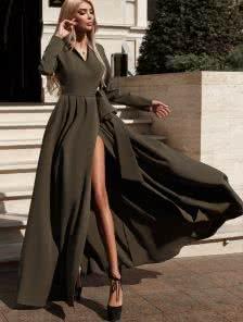 Длинное вечернее платье -жакет