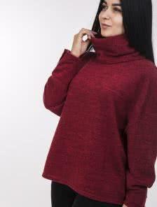 Ангоровая кофта-оверсайз красного цвета