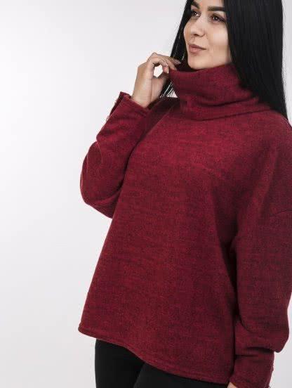 Ангоровая кофта-оверсайз красного цвета, фото 1