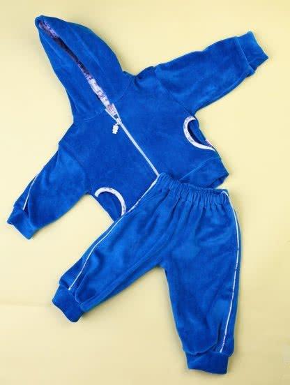 Теплый костюм голубого цвета для малыша, фото 1