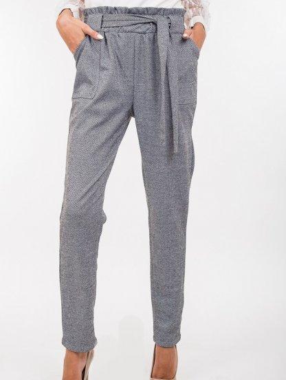 """Женские прямые брюки на широкой резинке с принтом """"елочка"""", фото 1"""