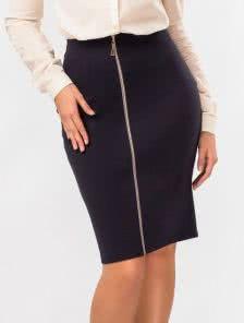 Трендовая юбка-карандаш цвета электрик