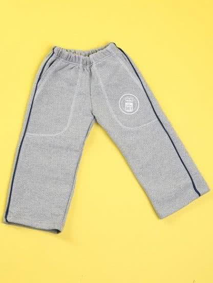 Детские утепленные штаны на резинке с полоской, фото 1