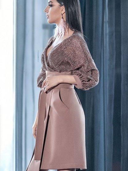 Платье-костюм с рукавом 3\4 с имитацией запаха, фото 1