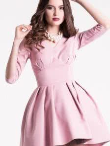 Коктейльное платье ассиметричной пышной юбкой